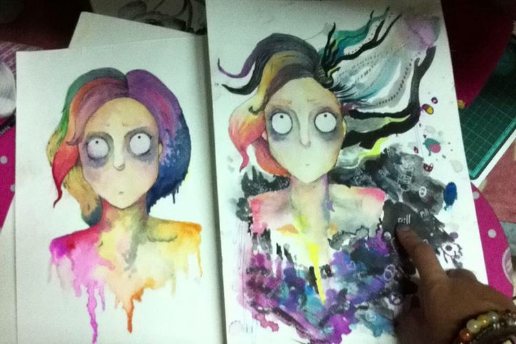 Check This Out Drawing Today :) Twins