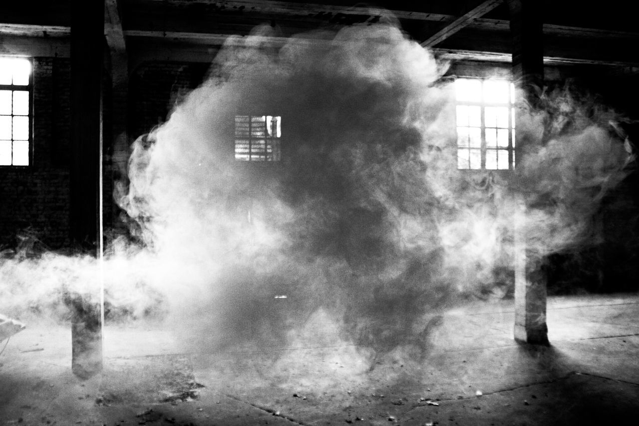 Smoke In Abandoned Building