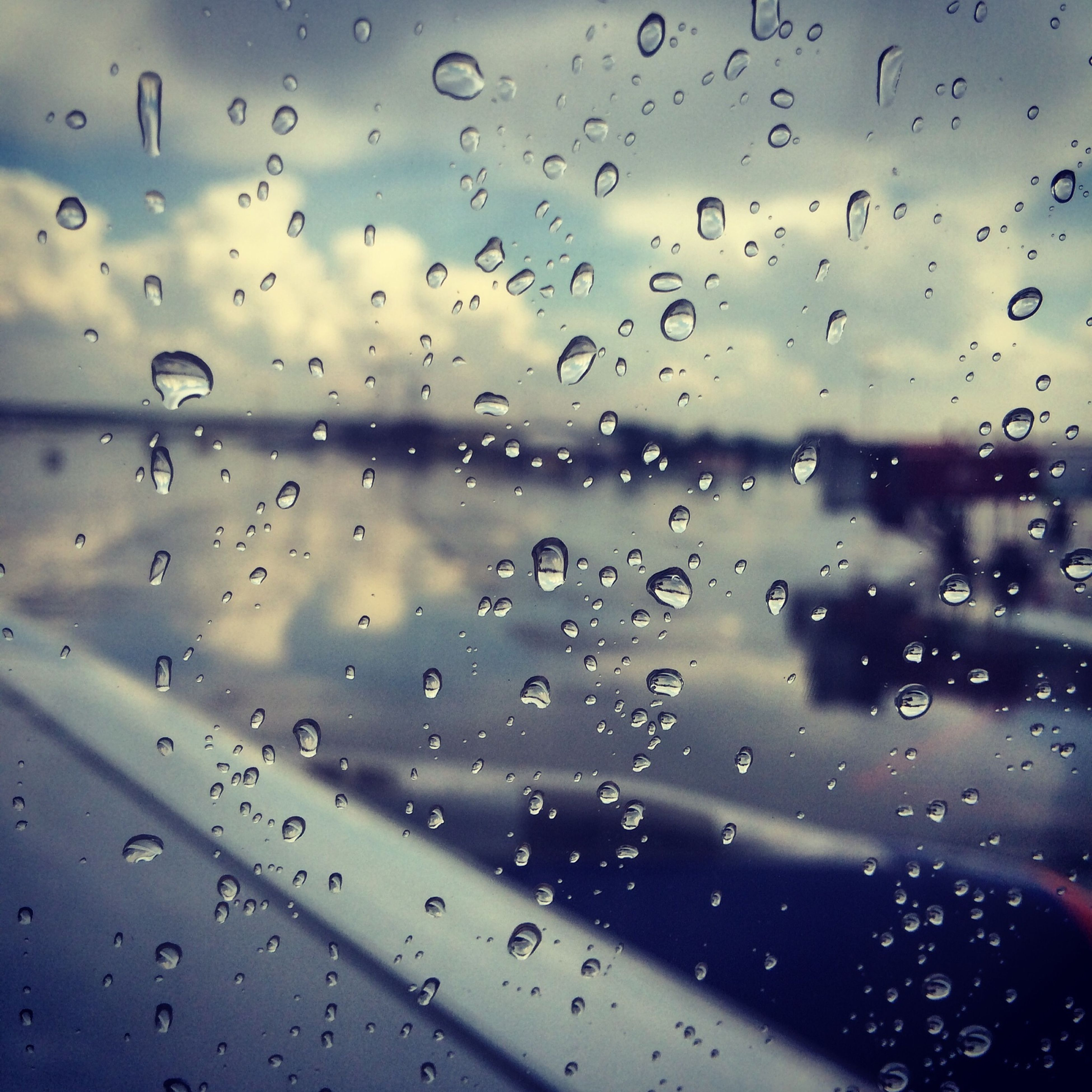 drop, wet, window, rain, transparent, water, glass - material, indoors, weather, raindrop, season, transportation, sky, mode of transport, vehicle interior, focus on foreground, full frame, backgrounds, car, glass