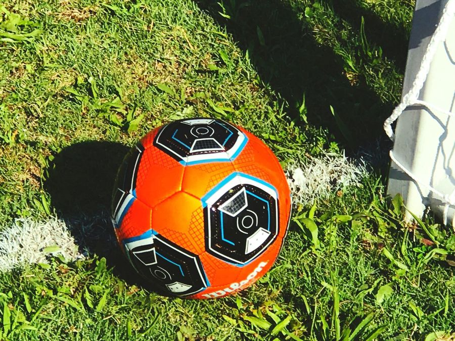 Grass Soccer Sport Soccer Ball High Angle View Ball Football Day Green Color No People Competitive Sport Playing Field Outdoors Nature Competition Soccer Field Community Recreation Kids Soccer Kids Sports
