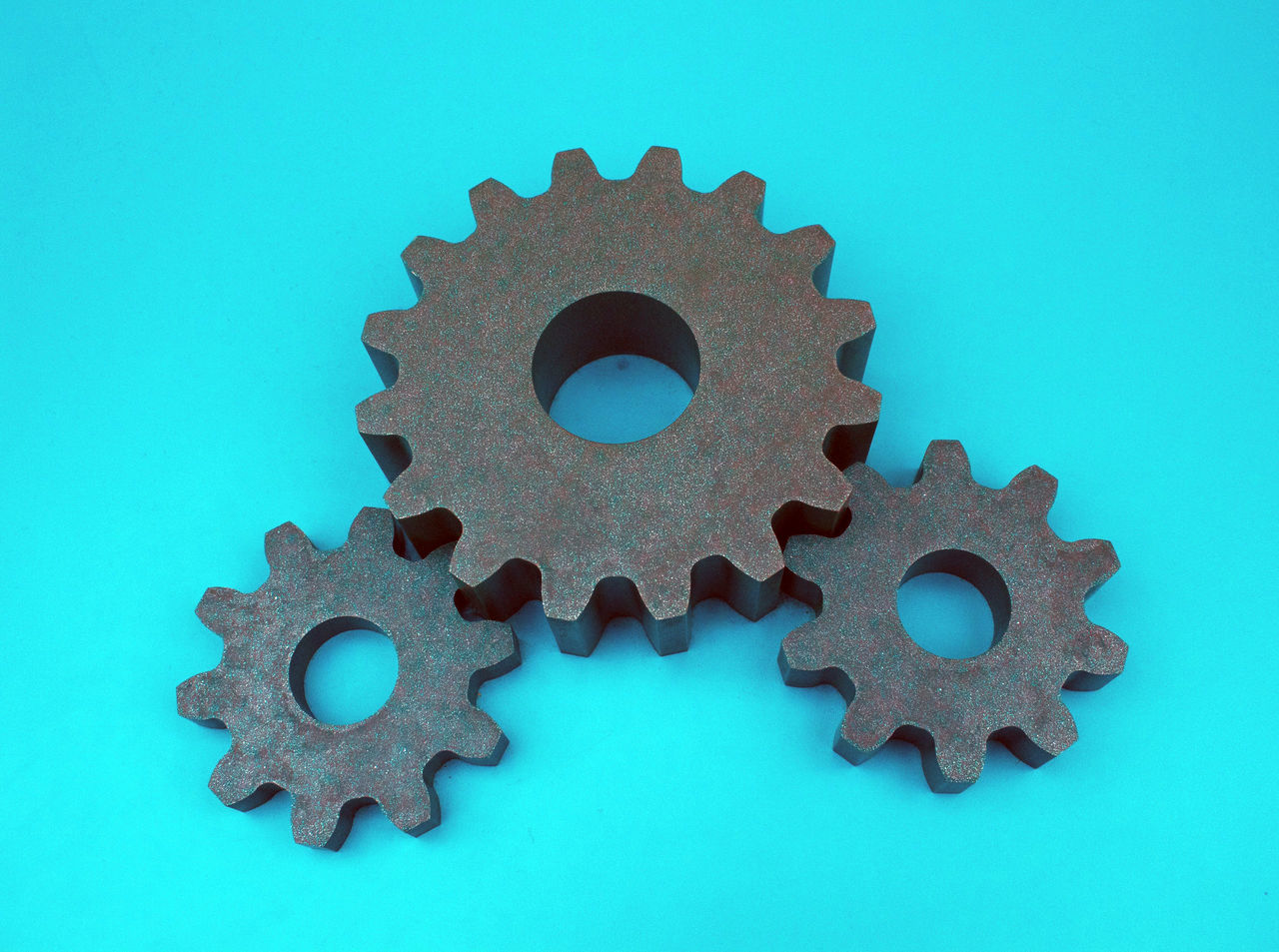 Blue Blue Background Close-up Day Jigsaw Piece Jigsaw Puzzle Metal No People Outdoors Sky Studio Shot Teamwork Technology Zahnradbahn
