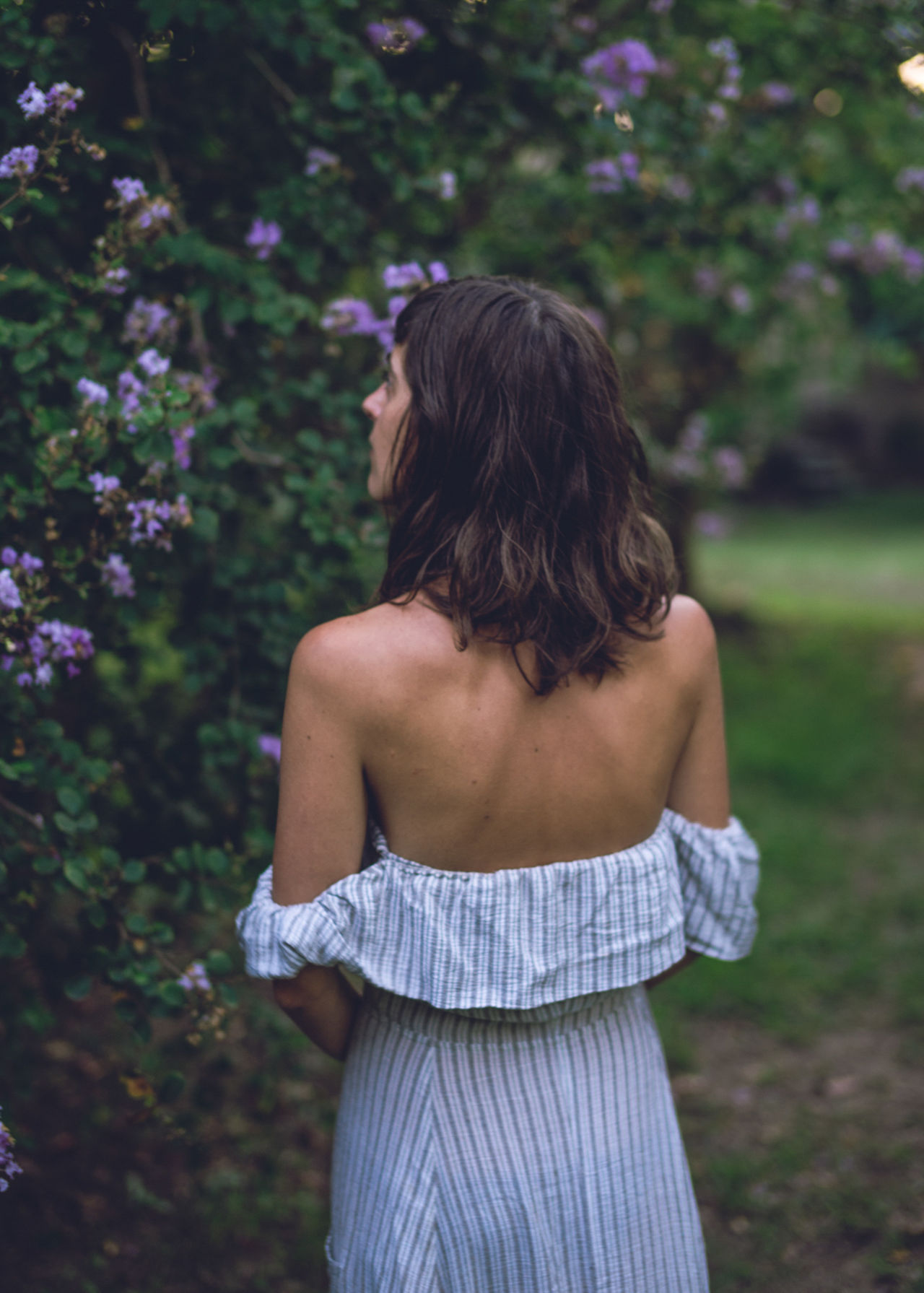 Beautiful Nature Beautiful Woman Beauty In Nature Day Daydreaming Flowers Flowers_collection Girl Holiday Human Back Leisure Activity Lifestyles Love Lovely Girl Nature One Person Outdoors Purple Real People Rear View Standing Travel Travel Photography Tree Young Adult