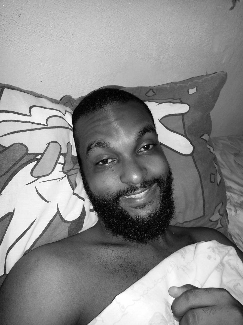 Good Morning Bed,smile❤ Smiling Loving Life  Beardlife Happyday Saturdaymorning Handsome That's Me
