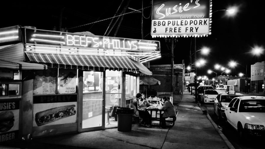 Restaurant Suzies Chicago Urban Exploration Home Is Where The Art Is Architecture Photography Buildings Architecture Chicago Architecture Street Photography Street Street Life Hidden Gems  if you ever visit Chicago's Northwest side, this place is 24 hours a day 7 days a week. ask about the special order of fries... Eyemphoto Battle Of The Cities Chicago Photographer Black And White Photography Black And White Outdoors