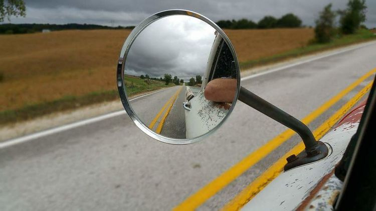 Cruise EyeEmNewHere Pickup Round Circle Mirror Lowrider RatRod Classic Chrome 1964 Chevy Truck Cruising Chilling Freedom Open Road Road Reflection Side-view Mirror Transportation Day Landscape Outdoors Tree No People Close-up Sky Nature