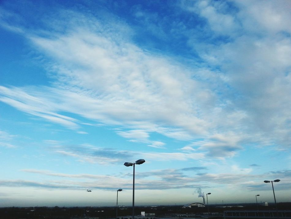 Beautiful Clouds in the Blue Sky in the Morning .