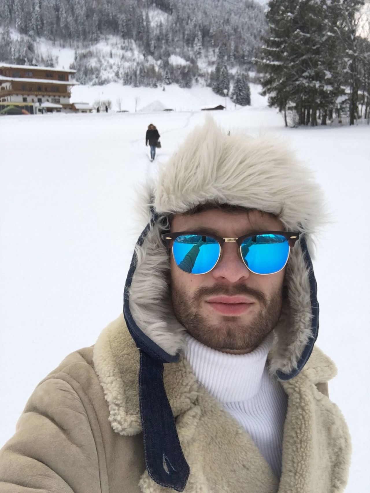 Winter Snow Cold Temperature Outdoors Mensfashion Sunglasses Reflection One PersonWarm Clothing White Selfıe Holiday My Son ❤