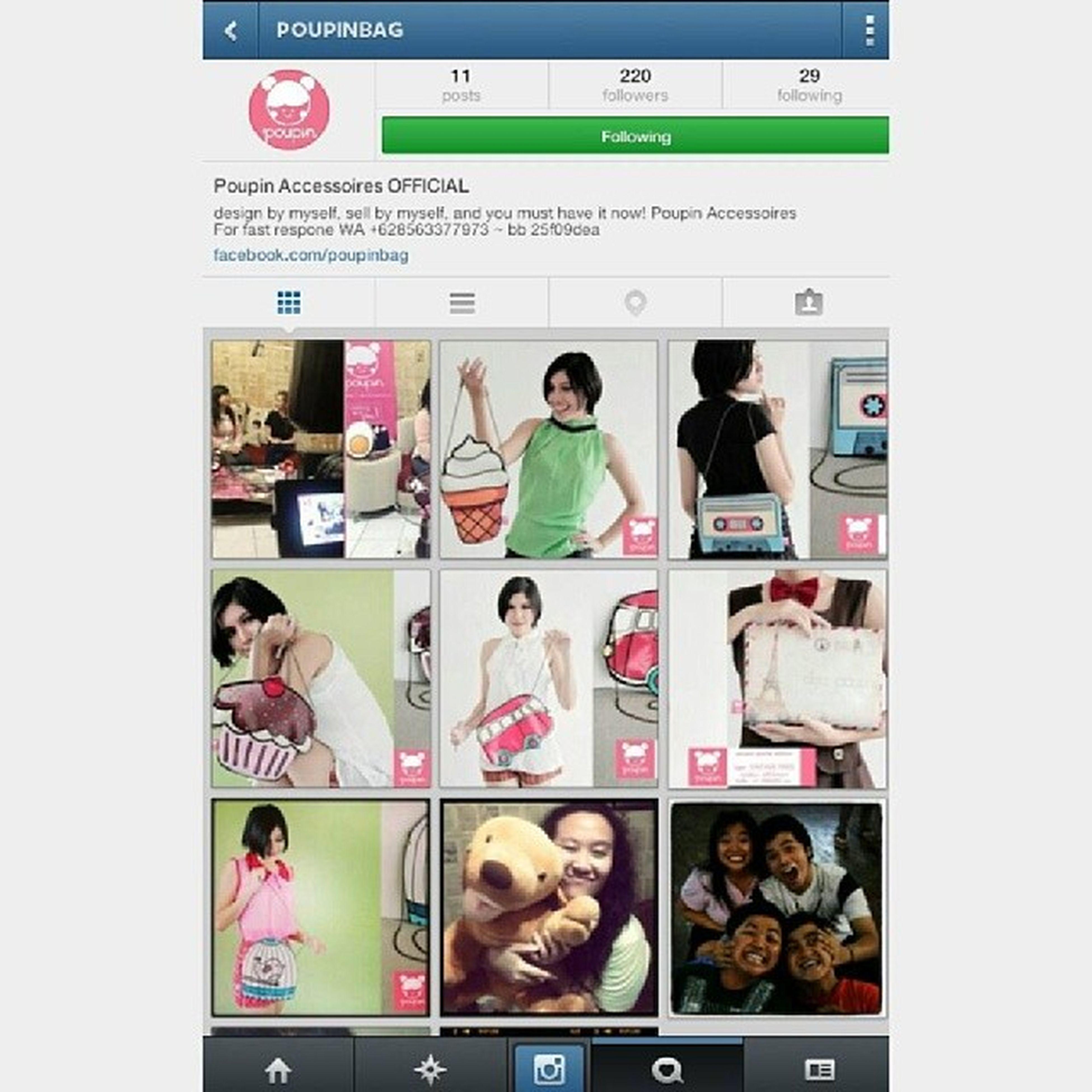 Yang suka sama tas tas unyu dan beda dari yang lain, ayo follow akun instagram @poupinbag cek barang2 unyunya, pati beda sama yang lain. Happy shopping! Promote Poupinbag Cute Onlineshop