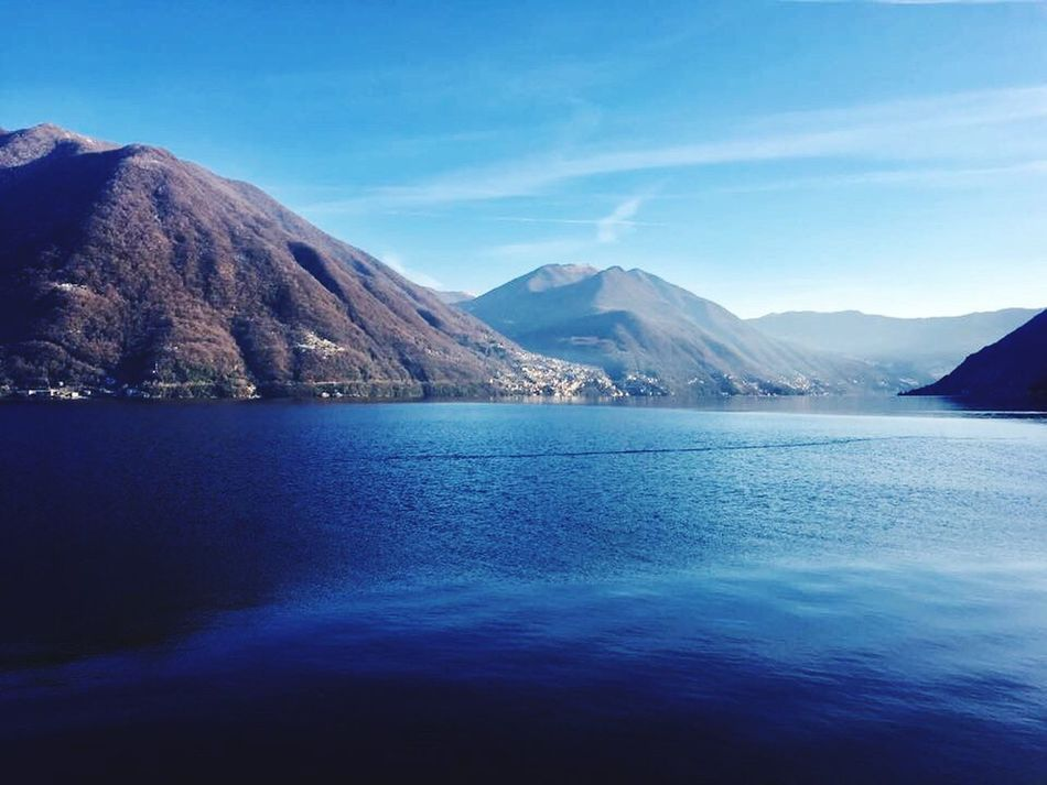 Photography Lakescape Lake Lake View Lakecomo Lagodicomo Italy Italia Travel Travelphotography Como Blue Bluewater Clearday Mountains Hills IPhoneography Iphonephotography Beautiful Beautiful Nature Nature Nature_perfection