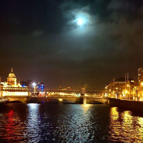 Night Lights Dublin City Ireland Nightwalk