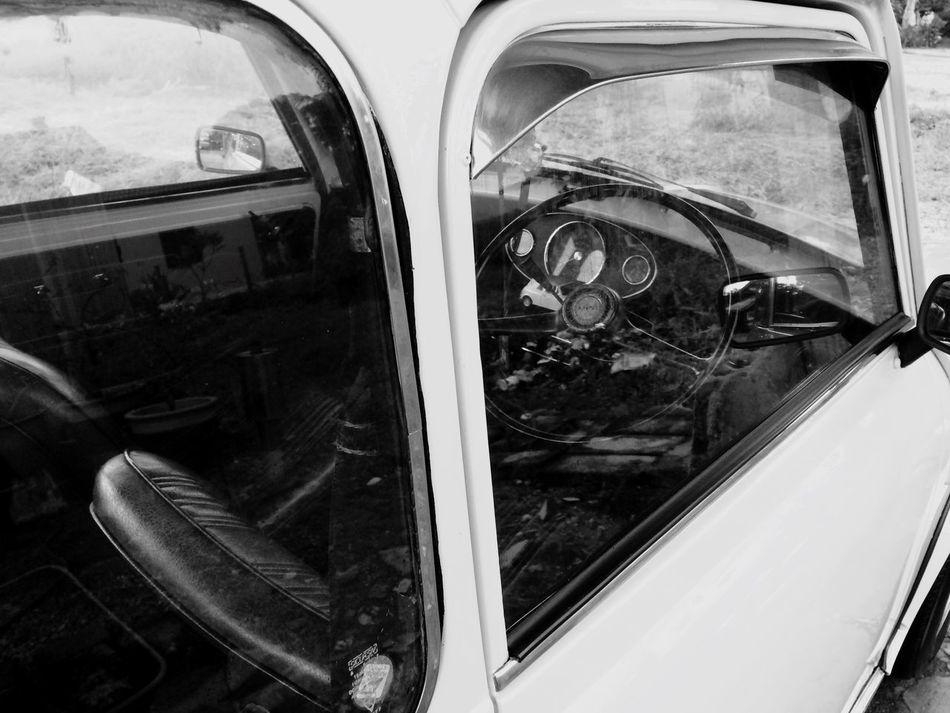 Old-fashioned Oldschool Mini Cooper Austin Mode Of Transport Car Steering Wheel