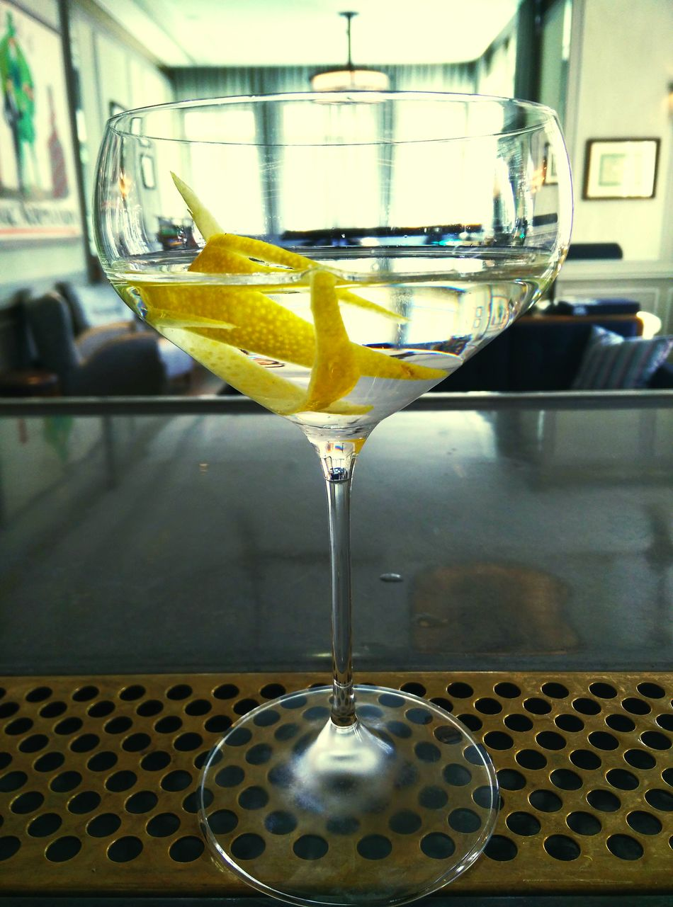 Dry Martini  Vodka Martini Lemon Twist Cope First Eyeem Photo
