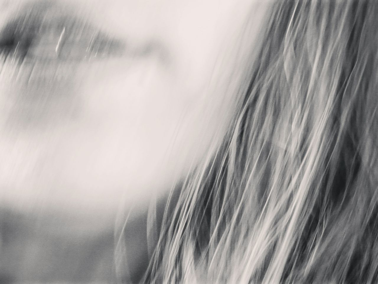 I see blur - MAinLoveWithLightAndShadow & VanessArt shooting Lips & Hair & Smile in Blur Portrait Monochrome Black And White How I See The World - 11.10.2015
