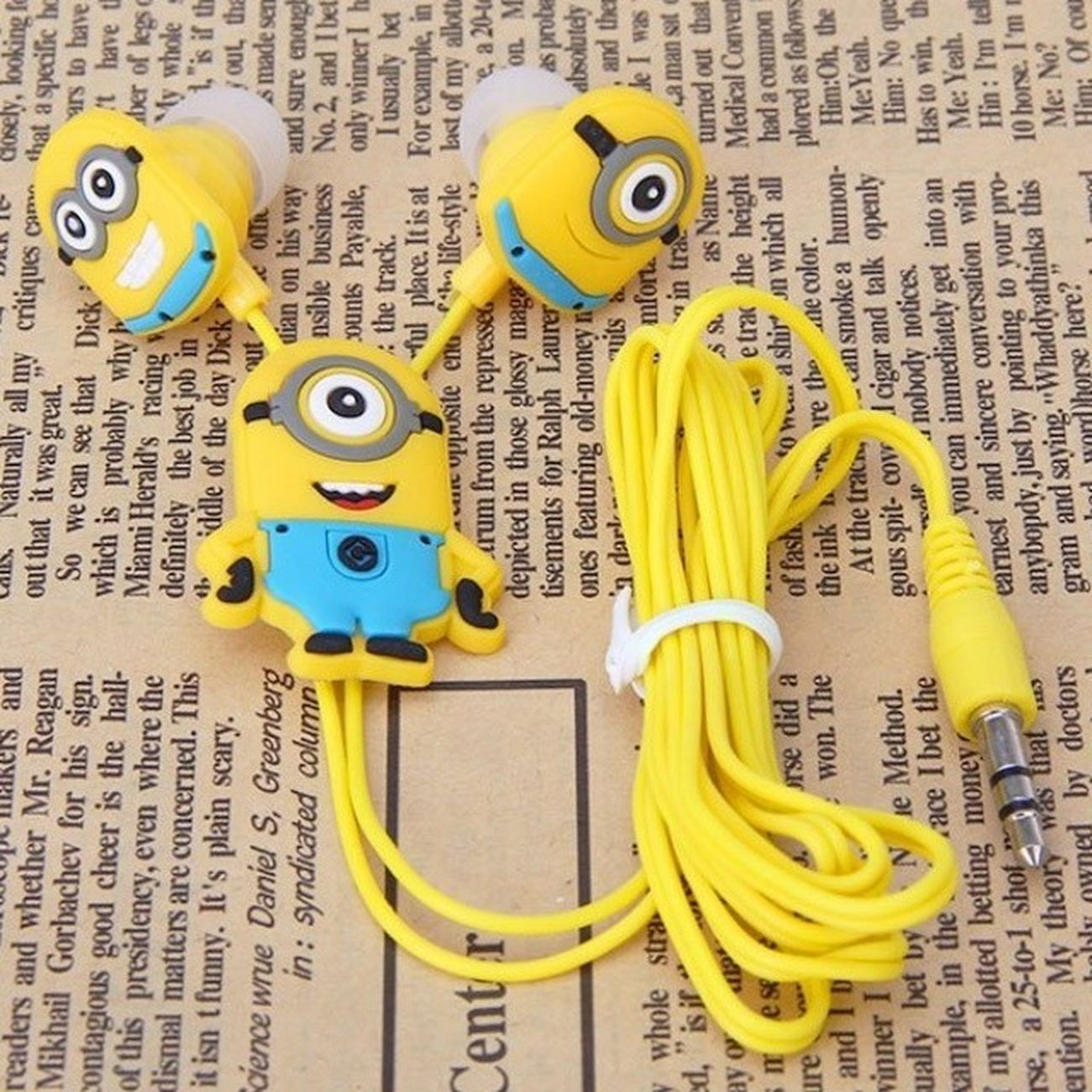"""My New Headphones with Mimions , Adore them !!!!!!.... They are very Funny and Cool :))... Listen to Music and Read a Book """" yes it's me """" ..."""