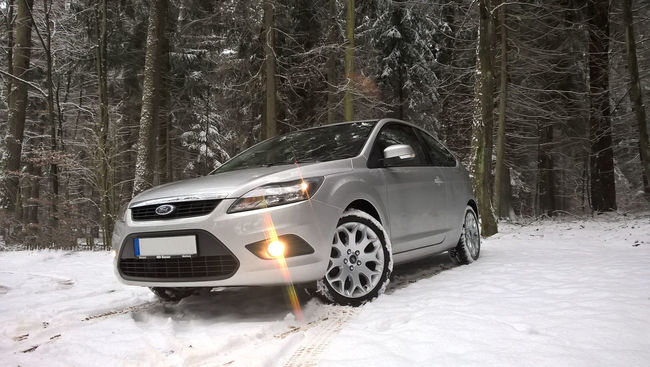 Car Cold Ford Ford Focus Forest Light Lights Rims Season  Snow Weather Winter First Eyeem Photo