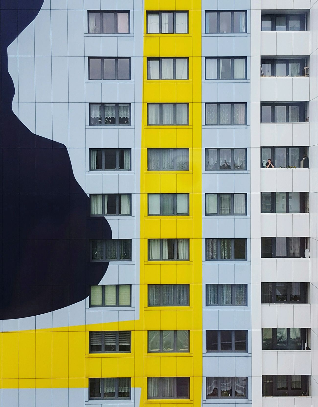 alone among many TCPM One Man Only Residential Building Residensity Hochhaus Plattenbau Plattenbauromantik Bonjour Tristesse Loneliness Architecture Building Exterior City Life Apartment Minimalist Lines And Patterns The Week On EyeEem People And Places Urban Photography Urban Exploration Berlin Photography Berliner Ansichten City Life One Person The Architect - 2017 EyeEm Awards