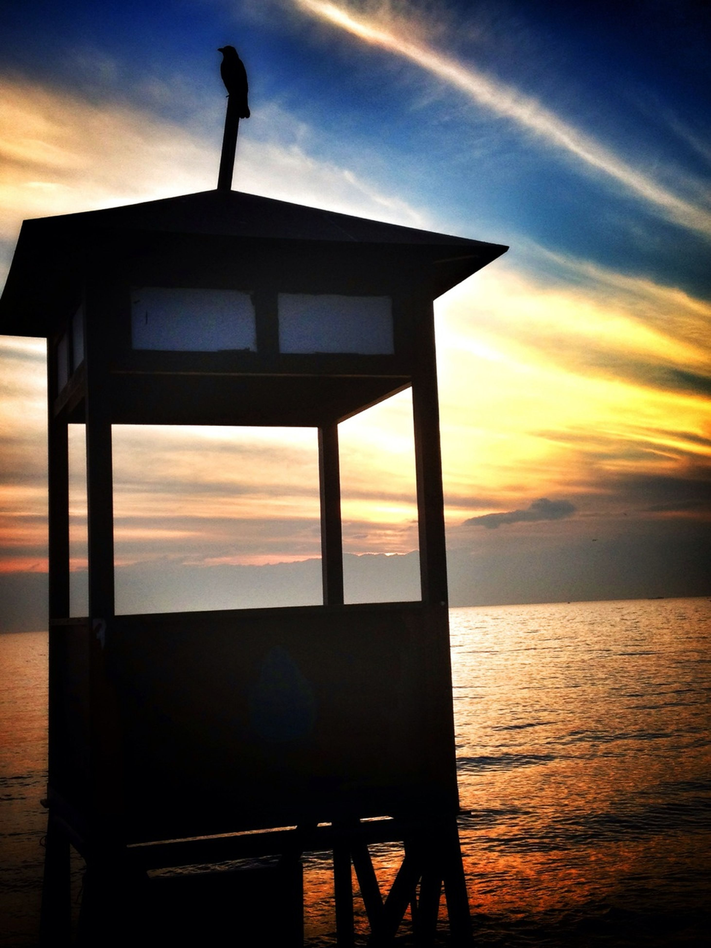 sunset, sky, sea, silhouette, water, horizon over water, orange color, built structure, cloud - sky, tranquility, scenics, cloud, architecture, beauty in nature, nature, tranquil scene, pier, idyllic, beach, outdoors