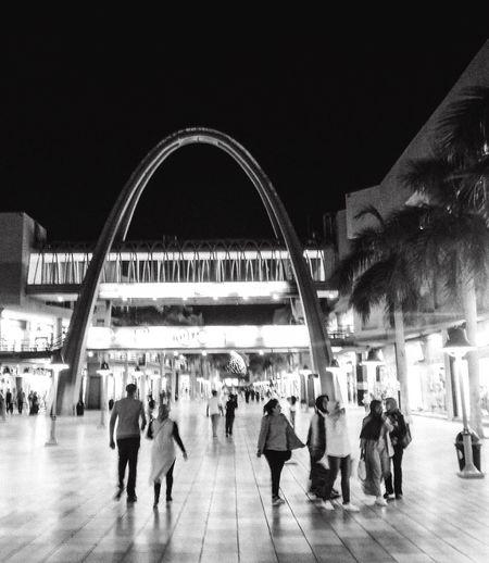 Large Group Of People Night Walking Architecture Illuminated Alexandria Mall Crowd Plaza_mall Outdoors Huawei The Street Photographer - 2017 EyeEm Awards