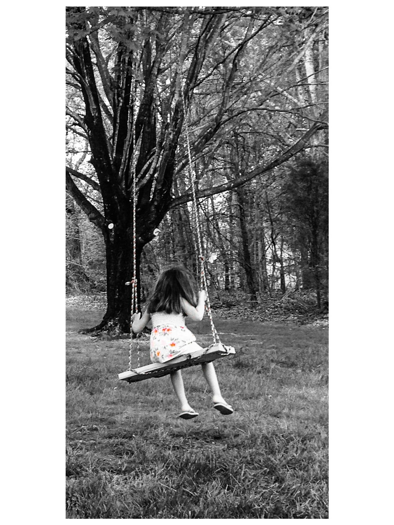 Childhood Child Childhood Memories Swing Rope Swing Mostly Black And White Room To Grow