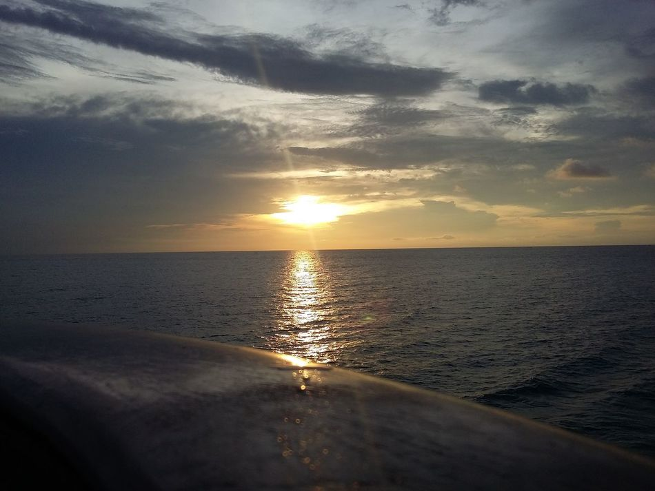 Beauty sunset from the ship First Eyeem Photo