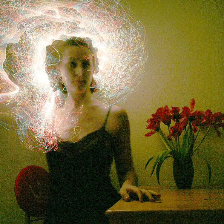 Cyberhat Cap Cyberspace Flowers Glowing Hat Light Light Painting Negligee Night Painting With Light Picasso Red Self Portrait Skin Tulips The Portraitist - 2015 EyeEm Awards ArtWork Art Portrait Getting Inspired NEM Self EyeEm Best Shots Motion Exposure Corporeality Photography In Motion