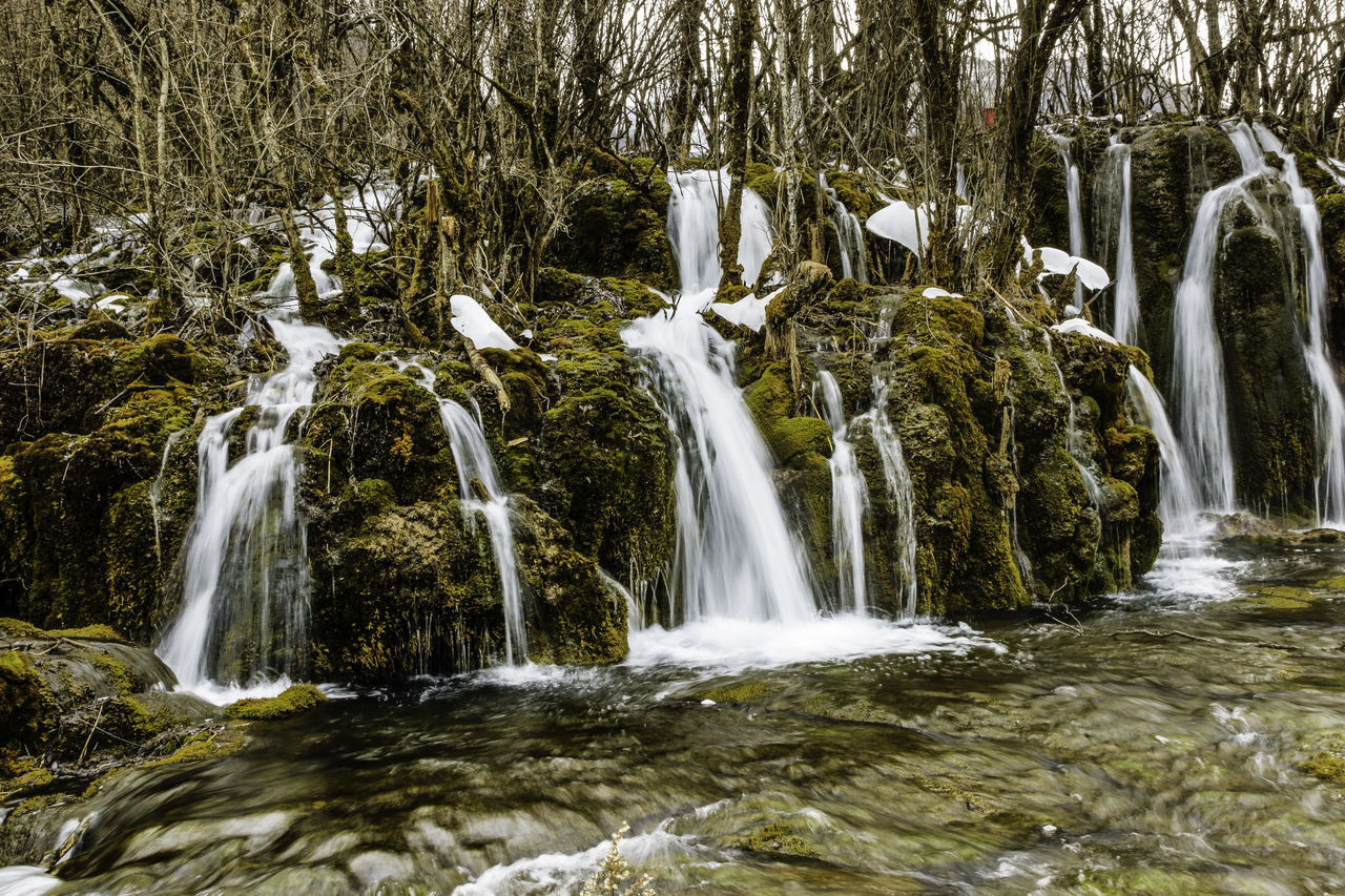 Beauty Blur China Clear Cold Flowing Forest Front Ice Jiuzhaigou Moss Motion Nature Photo Rocks Running Sichuan Tourism Tourist Travel Tree Trees View Water Waterfall