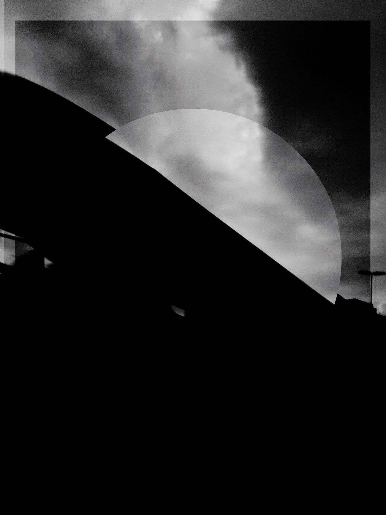 Shadow play Sky Low Angle View Built Structure Architecture IPhoneArtism Blackandwhite Black And White Black & White Abstractions In BlackandWhite