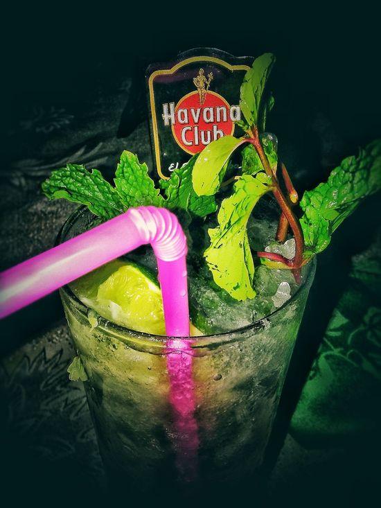 Alcohol Close-up Cuba Freshness Green Color Habana Club Mojito Yerba Buena