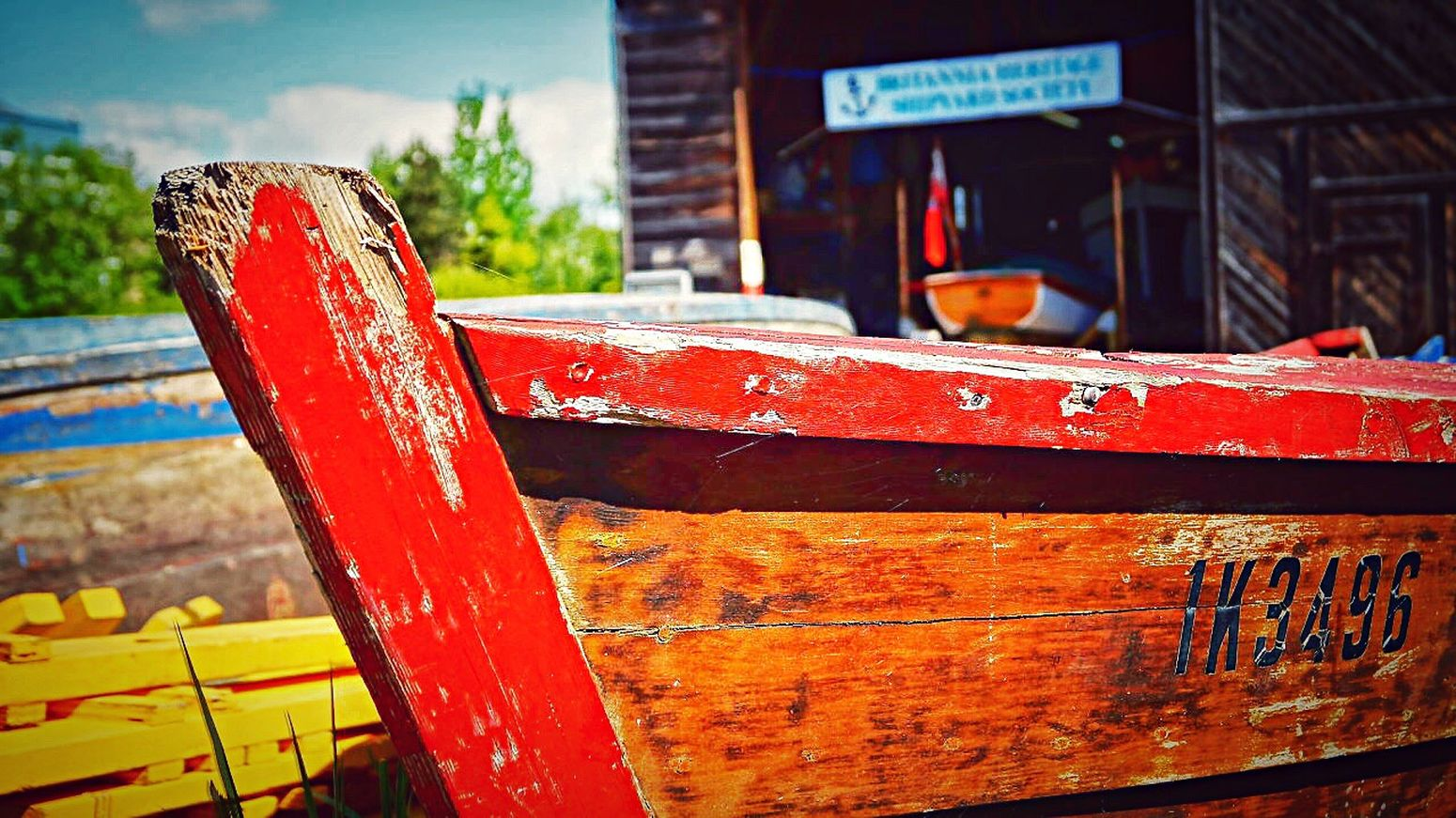 Rebuilding Memories Brittania Steveston Village Boat Wooden Boat Shipyard Saturation Afternoon