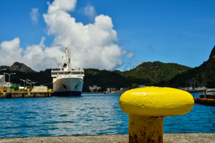 Blue Sky Hook Landscape_Collection Ogasawara Island Sea And Sky Tokyo,Japan Yellow Yellow Hook