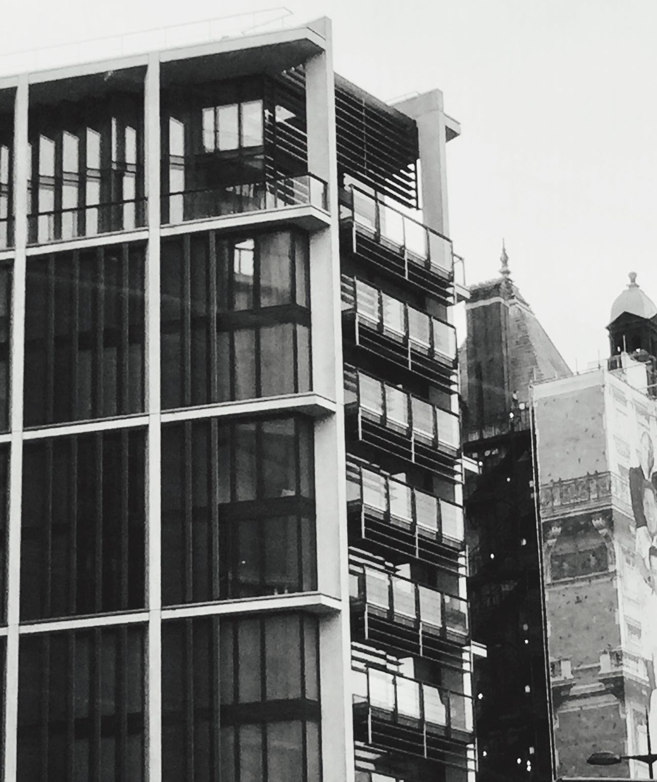 Office Block Sky Day Building Exterior Architecture Built Structure City Outdoors Low Angle View Modern Skyscraper Fire Escape The City Light Blackandwhite Photography