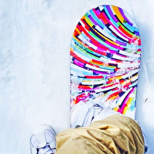 TakeoverContrast Multi Colored Personal Perspective Colorful Snowboard Girl Snowboarder Snow Contrast