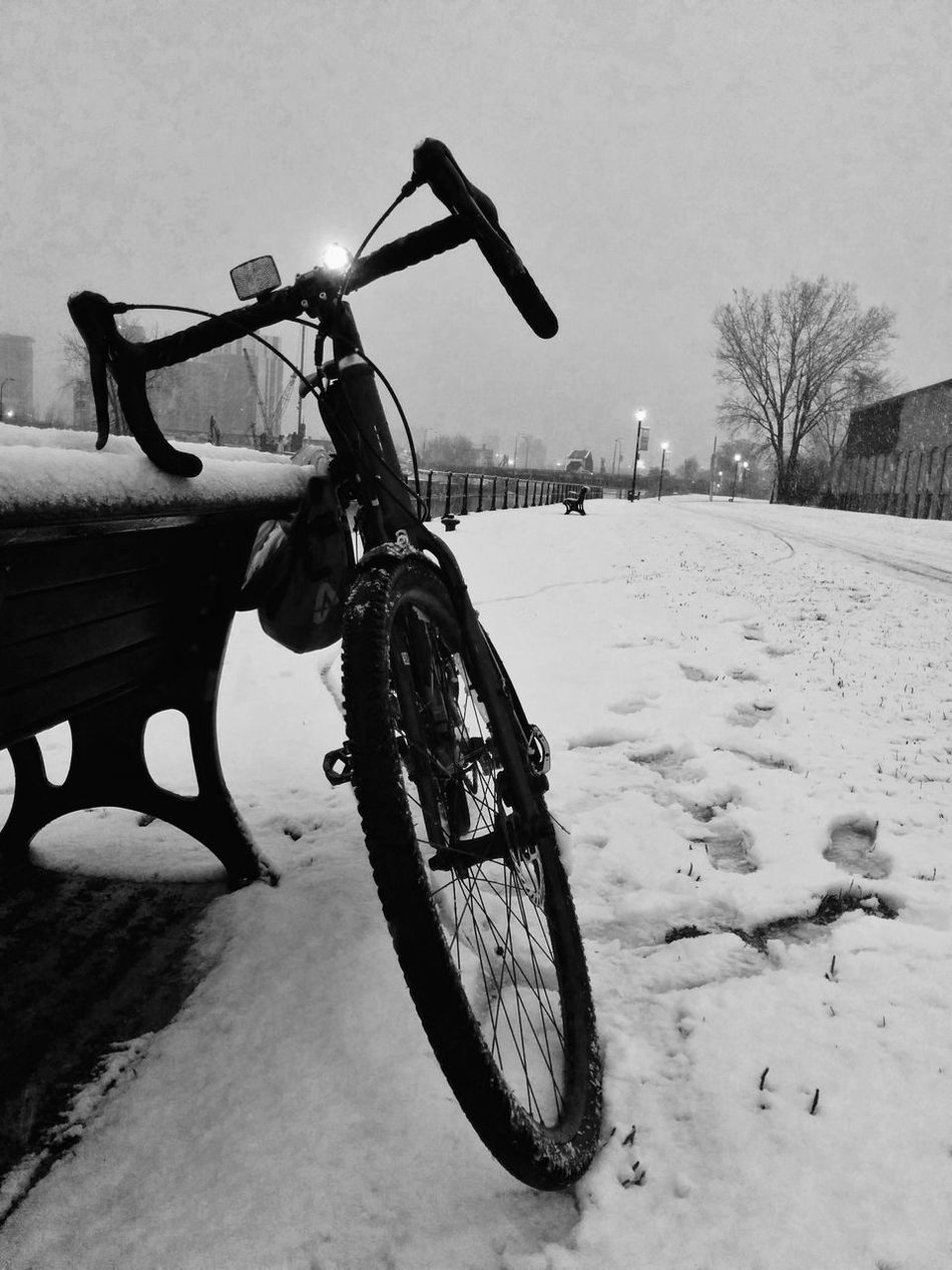 Life On 2 Wheels Bicycle Snow Winter