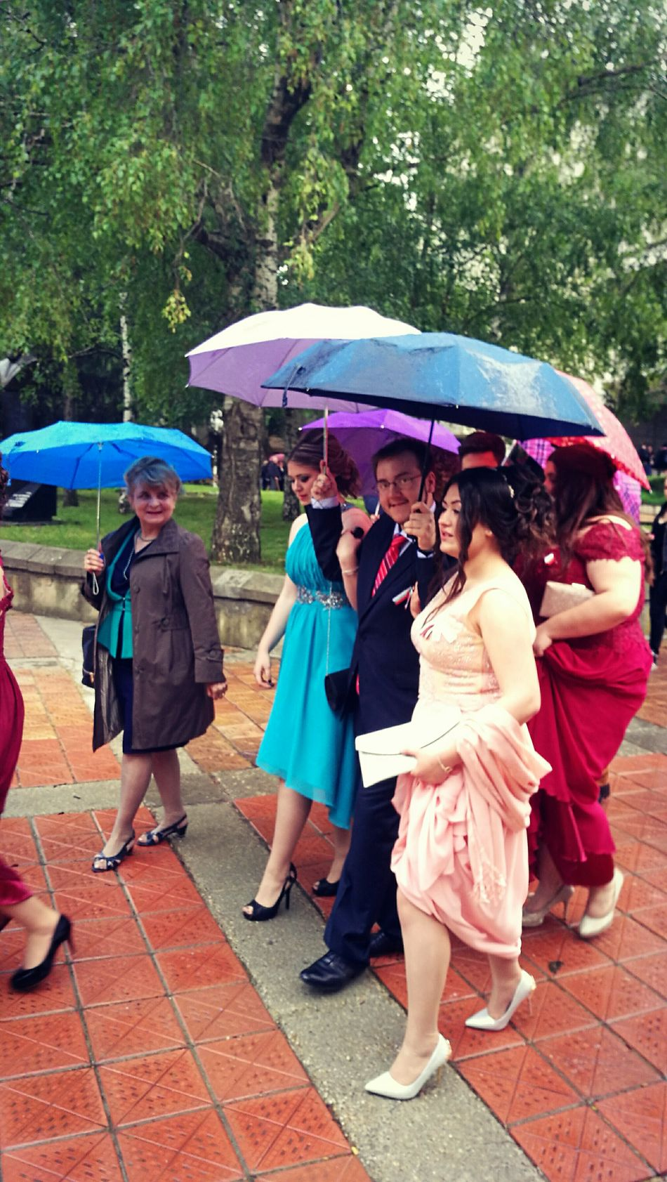 Prom Bulgarian Prom Umbrellas Colorful Graduation