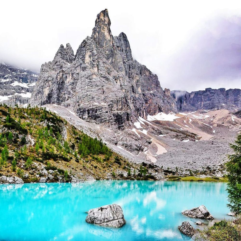Sorapis Lake Water Mountain Tranquility Nature Day No People Health Spa Sky Outdoors Lake Travel Destinations Scenics