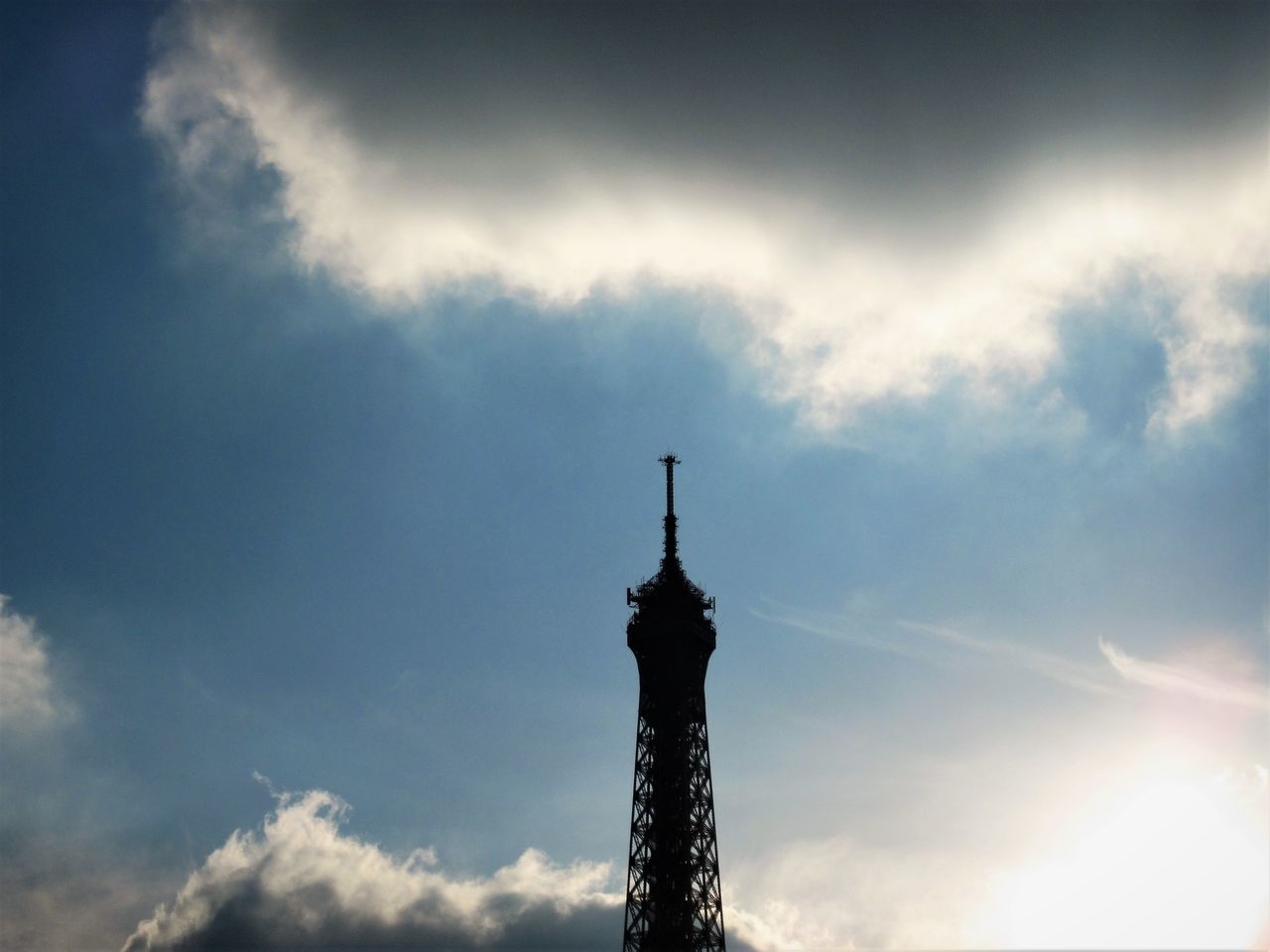Architecture Building Exterior Built Structure Cloud - Sky Day Eiffel Tower Low Angle View Nature No People Outdoors Silhouette Sky