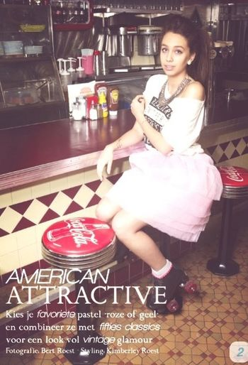 American atractick fasion shoot in retro style Enjoying Life Model Shoot Fasion