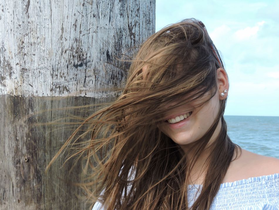 Long Hair Young Adult Portrait Headshot One Person Young Women Lifestyles Close-up Leisure Activity Real People Beautiful Woman Water Outdoors Day One Young Woman Only Nature Sky People Adult Hair Windy Wind Blowing EyeEm Best Shots Girl