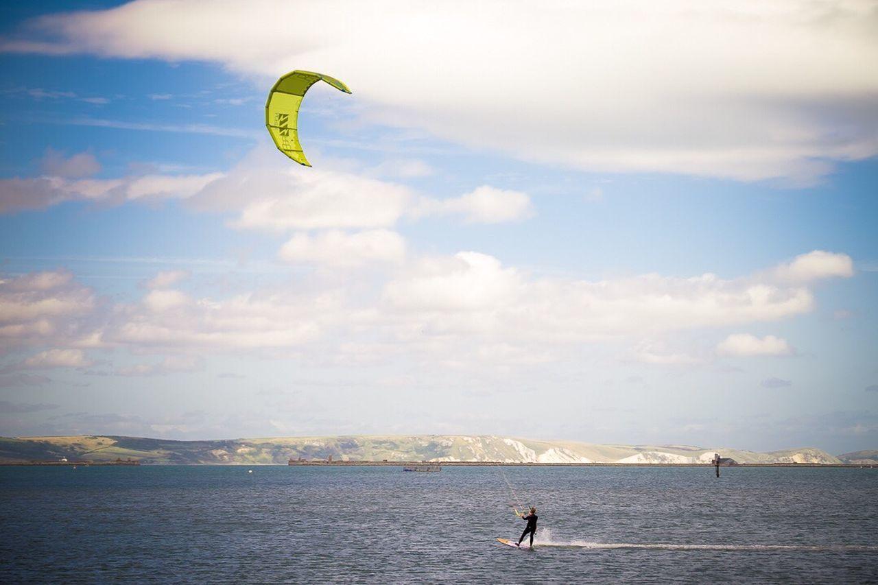 Kitesurfing Kitesurf Kiteboarding Portlandharbor Portland Sea Water Sport Sky Beach Lifestyles