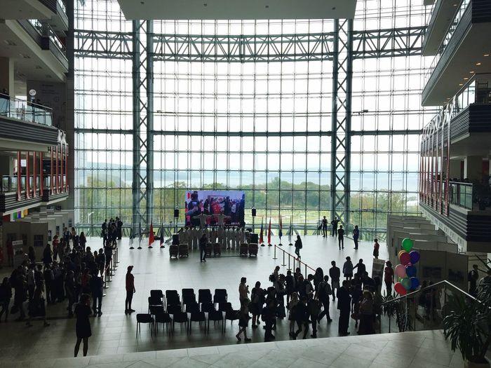 Architecture Large Group Of People Indoors  City Life Tourist Celebration Men City Leisure Activity