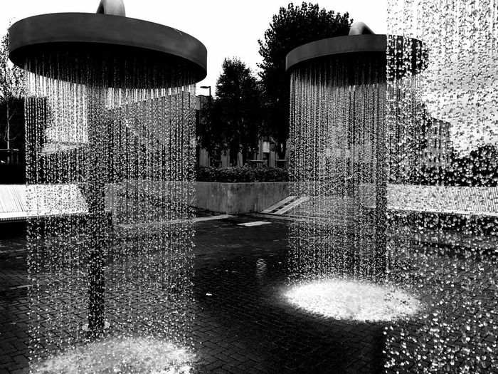 Sunday shower Water Fountain Spraying Day Built Structure Outdoors Architecture No People Building Exterior Sky Tree