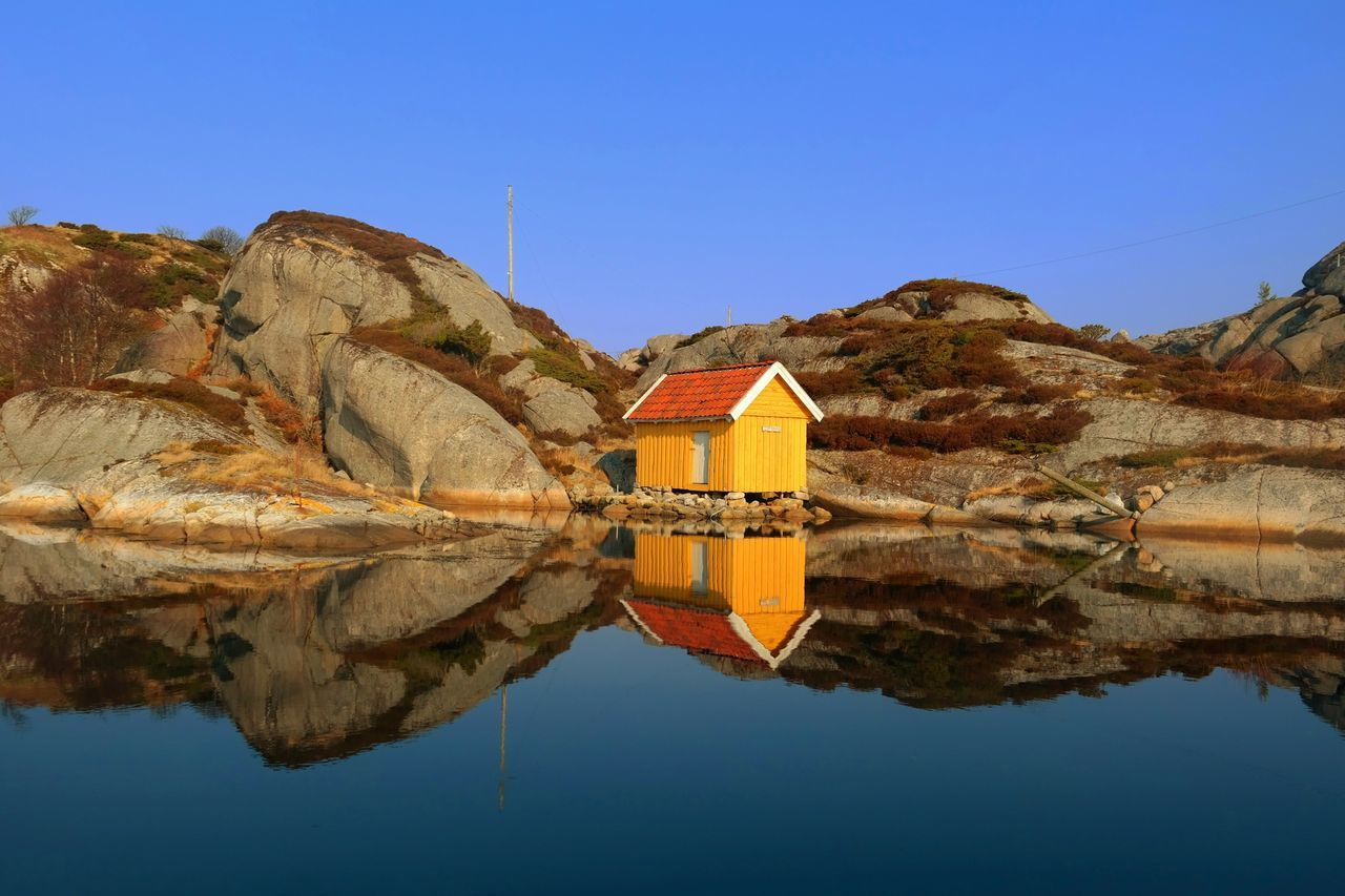 Our neighbour's boathouse - Bømlo, Norway. Water_collection Reflection EyeEm Best Shots Landscape_Collection