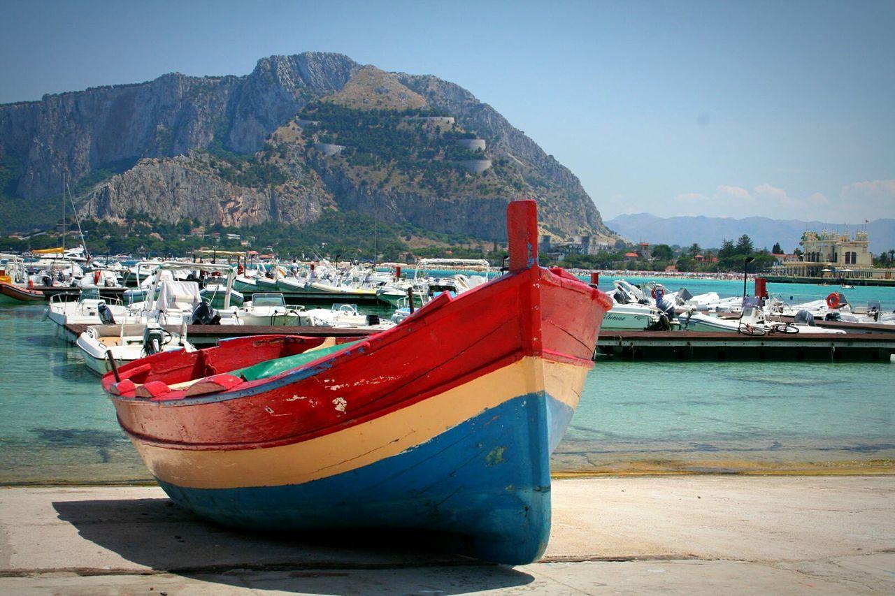 Sea Boat Travel Beautiful Blue Water Sizilia Sizilien Palermo