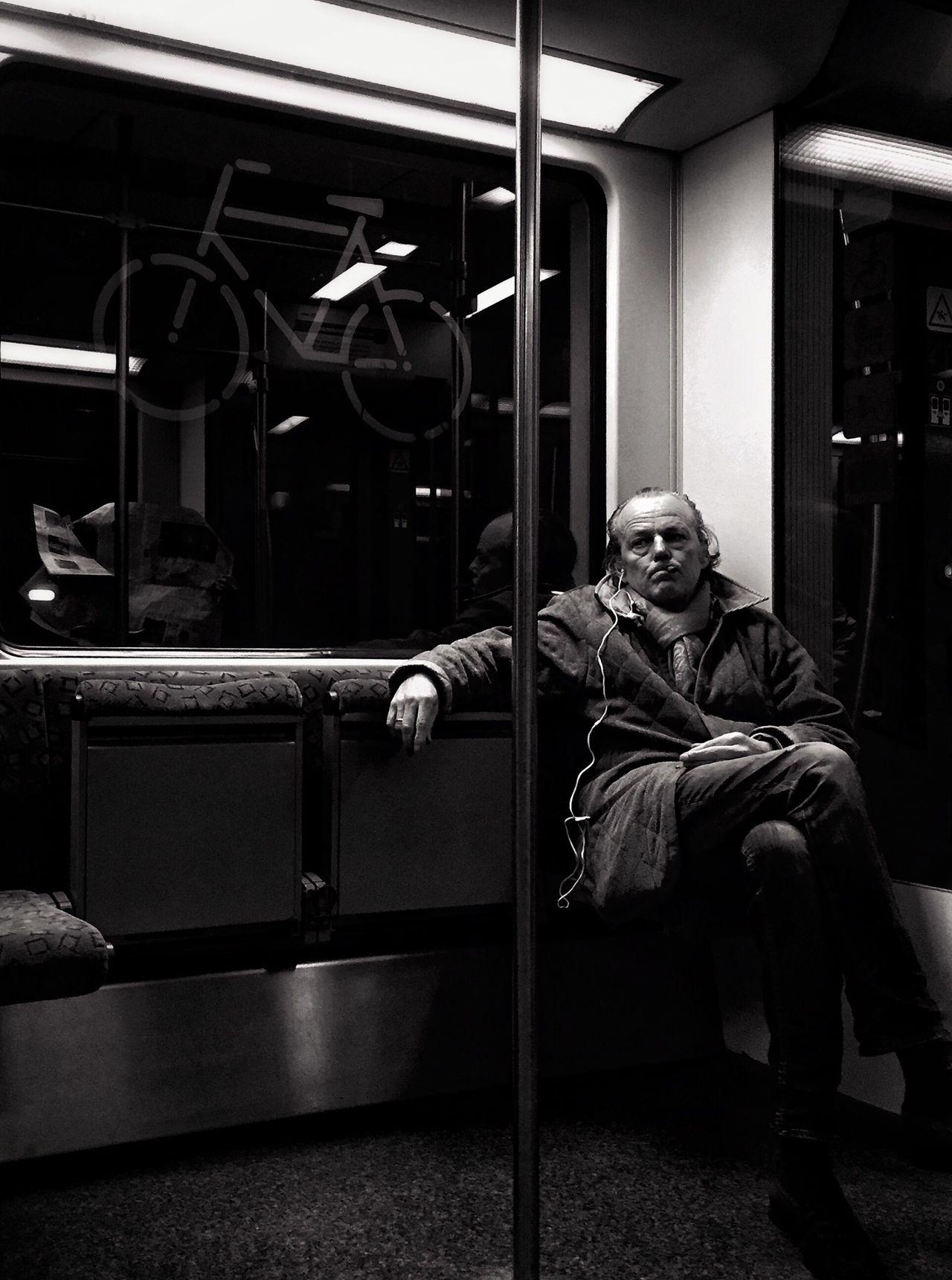 Jack Nicholson StreetPortraits Streetphotography Public Transportation Berlin Myfuckingberlin Blackandwhite Bnw Mpro Iphone6 Mobilephotography