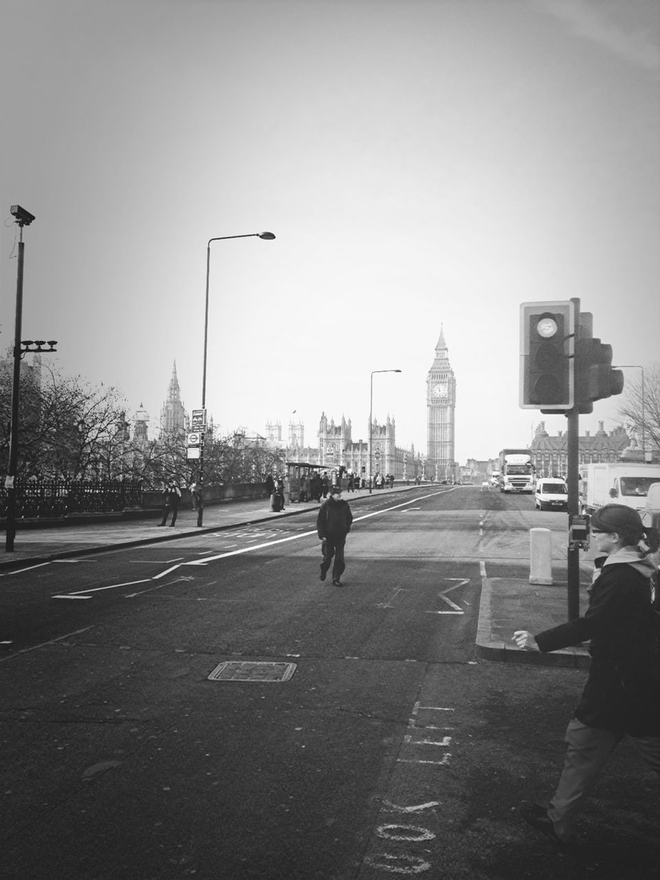 City Street With Big Ben In Background