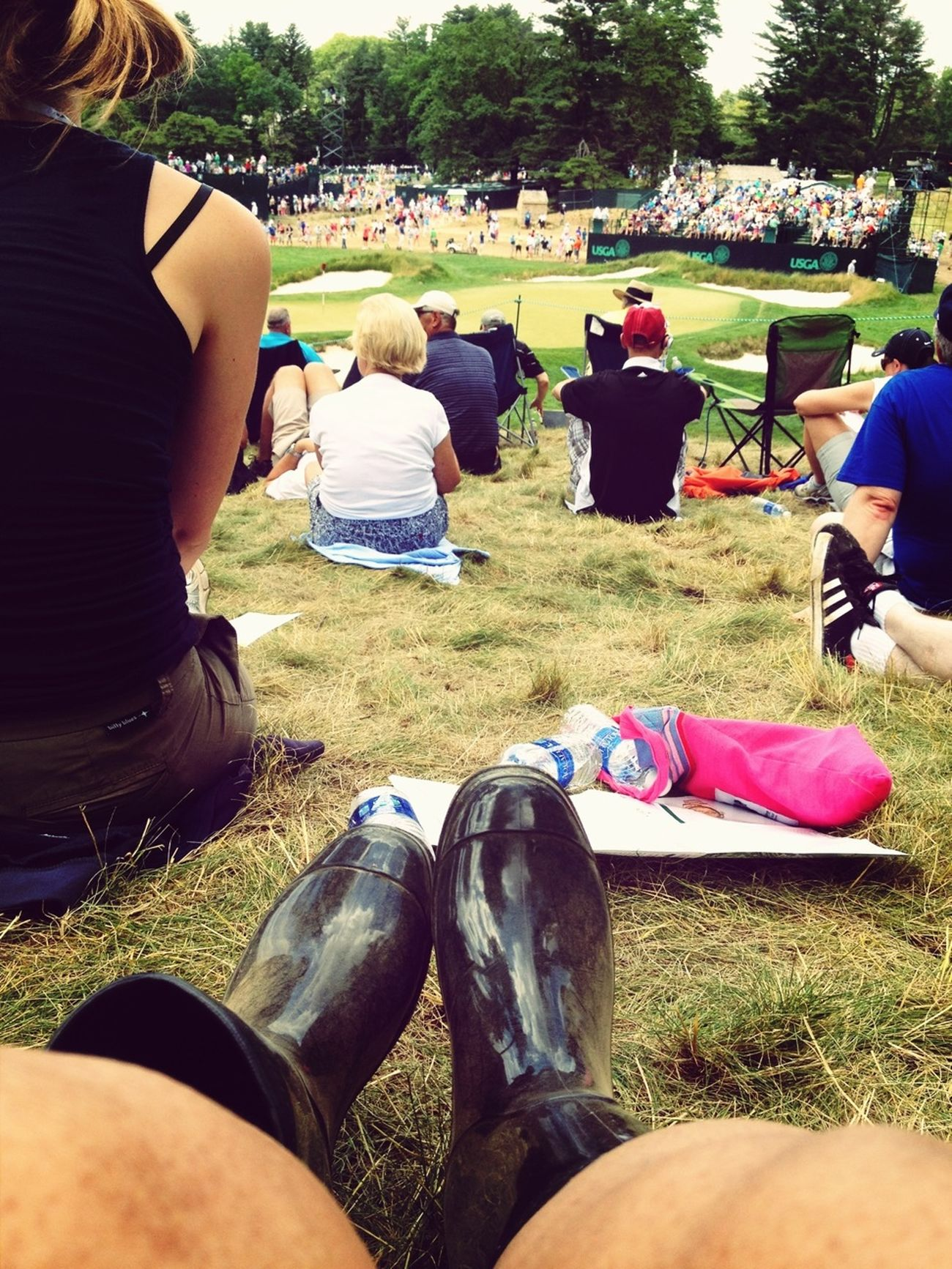 Taking in the view on the ninth! #usopen2013