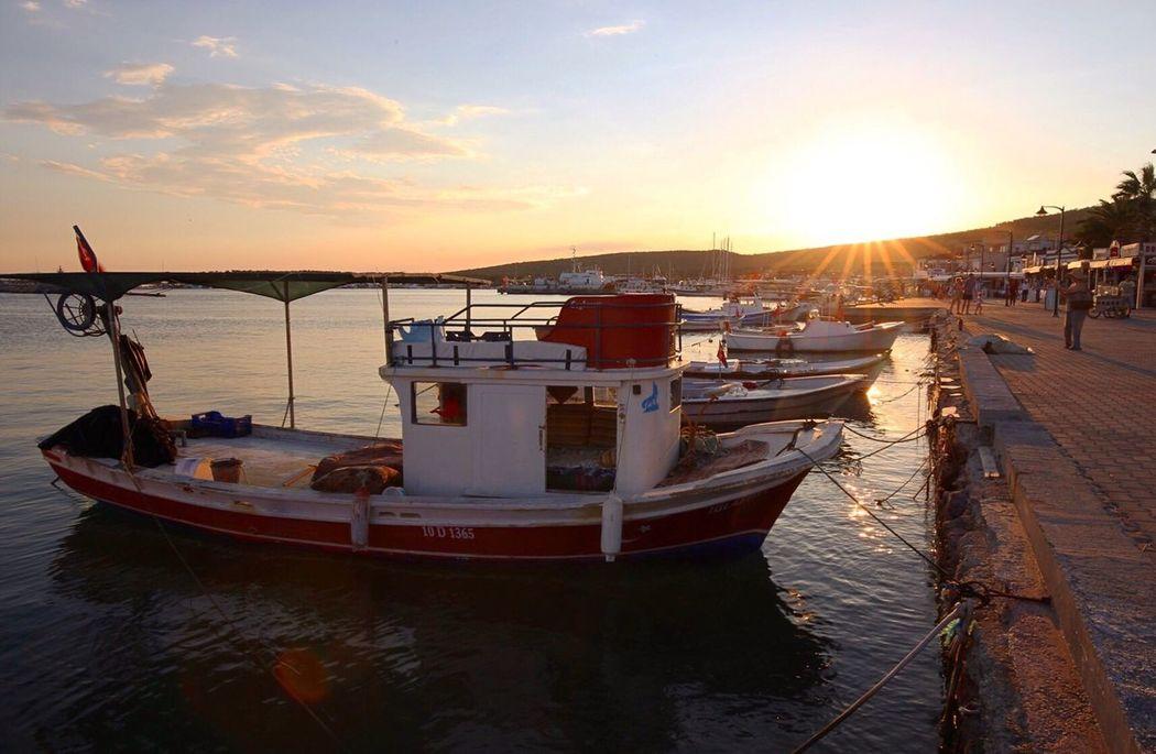 Boat Smallboat Sunset Sunshine Cunda Ayvalık Aegean Sea