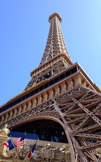 Architecture Built Structure Tower Clear Sky Low Angle View Building Exterior Blue City Travel Destinations Outdoors Cultures No People Day Sky Las Vegas