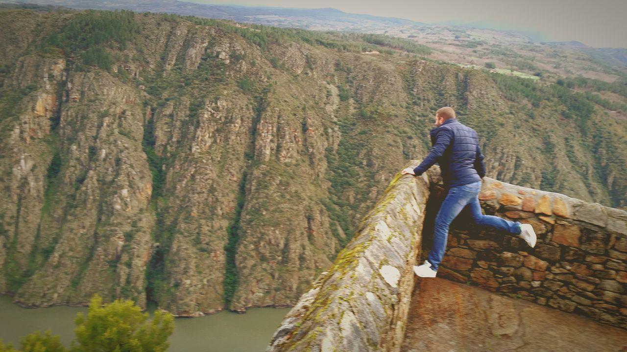 Galicia España Cañón Do Sil Ribeira Sacra River Mountains Rainy Days Balcones De Madrid