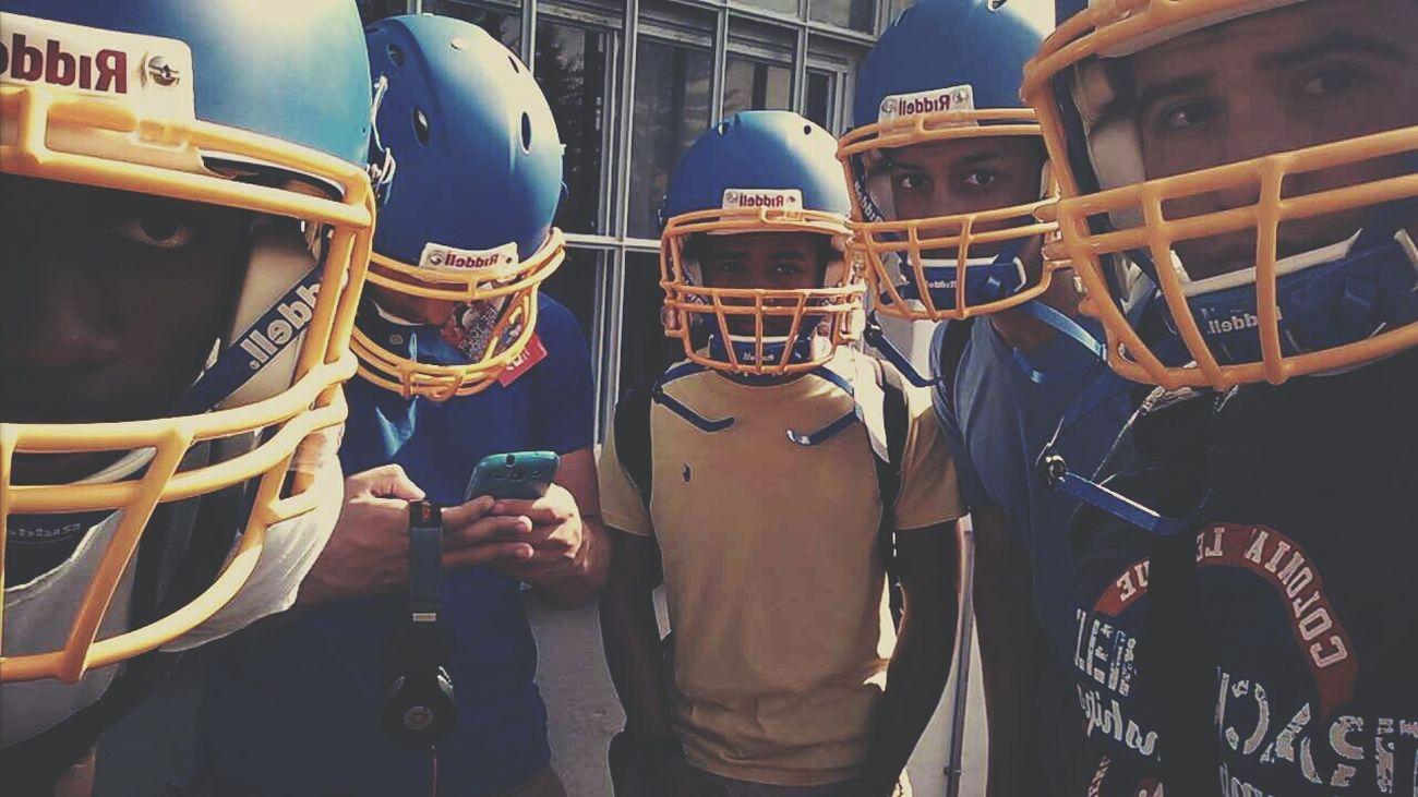 Football Springball Blue Yellow